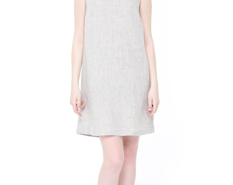 Basic linen dress. Linen dress, Gray linen dress, Classic drass,Natural linen dress, 100% linen