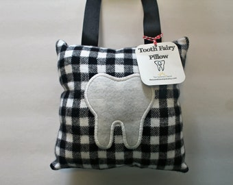 Tooth Fairy Pillow - Tooth Holder - Tooth Fairy - Boys Tooth  Fairy Pillow - Black and White Tooth Pillow - Tooth Storage - Children's Gift