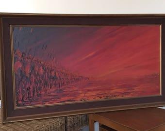 Oil On Canvas Abstract Battleship Painting J PASSEUR