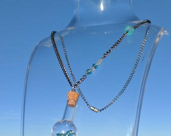 Bubbling Flask Necklace