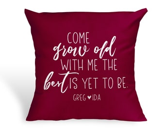Grow Old With Me Pillow|Anniversary Gifts For Wife Christmas Gift For Mom|Bedroom Decor|Lesbian Wedding Gift|Custom Wedding Gift For Couples