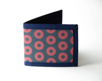 Donuts Billfold Wallet - with donuts throughout