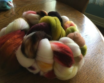 DESTASH SALE:4oz Superwash Targhee Wool Roving