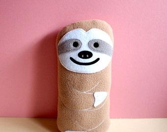 Beige Sloth Plush Soft Stuffed Toy Huggable Sloth Doll Cushion Pillow Baby Shower Cot Toy Nursery Decor Gift, MINI Slothful Plush Friend