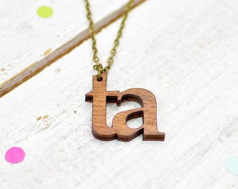Yorkshire Necklace | Ta Necklace | Yorkshire Slang | Nickel Free Jewellery | Word Jewellery | Northern Expressions