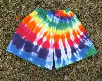Rainbow Swirl Tie-Dye Shorts