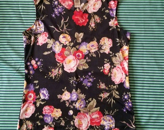 Polyester Floral 70's Top
