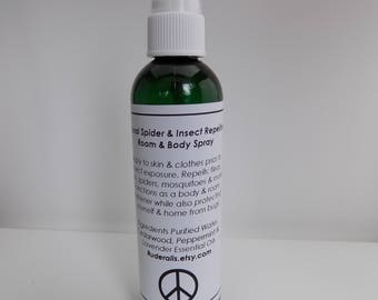 Vegan Spider & Insect Repelling Room and Body Spray Natural