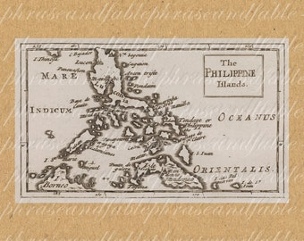 The Philippine Islands From The 1600s 331 Sailing Digital Last Minute Gift Borneo Manila Mindanao Filipino Southeast Asia Pacific Palau