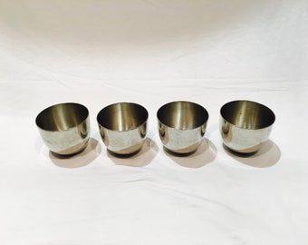 Jefferson Cup Collection, 4 Jefferson cups, Stieff Pewter, p50, Jefferson cup, Monticello, Jefferson goblet, Jefferson jigger, Pewter cup