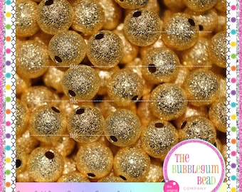 8mm GOLD STARDUST SPACER Beads, Qty 50, Gumball Bead Supplies, Bead Findings, Gold Beads, Metal Spacers, Stardust, The Bubblegum Bead Co.