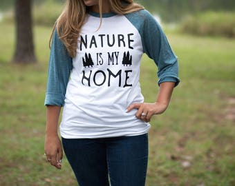 Hippie Clothes - Gifts for Travelers - Baseball Tees - Nature Shirt - Hippie Shirts - Hiking gift - Wanderlust Shirt - Baseball Hippie Tee