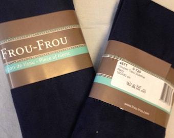 Dark blue suede fabric coupon