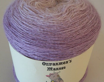 Decadence: 2ply Laceweight Baby Alpaca, Cashmere and Silk blend gradient dyed knitting yarn.  Colourway - Dusk