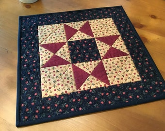 Quilted Table Topper / Handmade / Country Decor / Item #2386