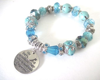 "The Love between a grandmother and grandson bracelet "" Happiness """
