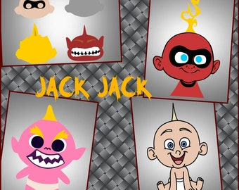 Incredibles Layered Jack Jack SVG Files - Jack Jack Files made for the cricut and other cutting machines