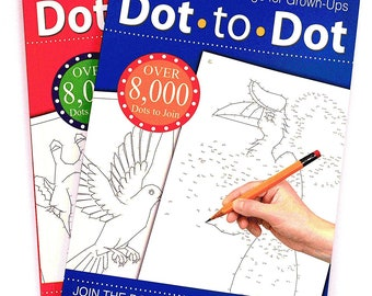 Adults Activity Dot to Dot Colouring Book Game Children's Activities Anti Stress Present Gift Party Supplies (Design Supplied Randomly)