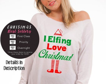 holiday shirt buddy the elf ugly Christmas sweaters available in plus size tacky Christmas sweaters holiday shirts for women long sleeve