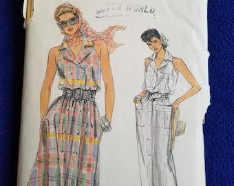 Vogue Dress Pattern 9205 Sz 12/14/16