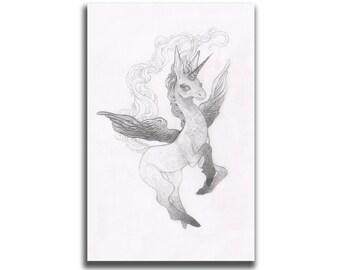 Pegacorn 5.5 x 8.5 Art Print