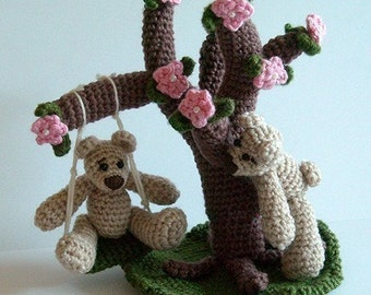 Instant Download - PDF Crochet Pattern - Swinging Bears