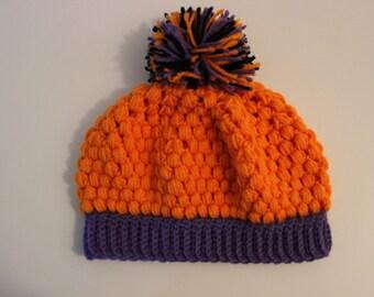 Halloween Puff Stitch Hat