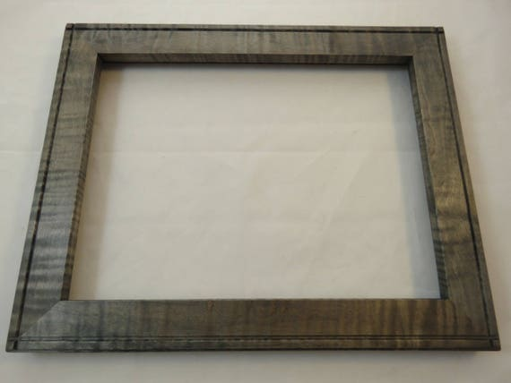 9x12 Curly Maple Silver Gray Dye Picture Frame from RaysWoodworking ...