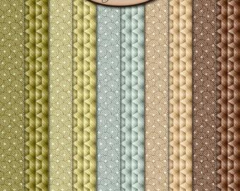 Digital Scrapbook: Paper Pack Extra, Sandalwood