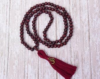 108 Mala Bead, Mala Necklace, Bead Necklace, Tassel Necklace, 108 Mala Bead, Buddhist Jewelry, Necklace, Buddhist Prayer Bead, Yoga Necklace