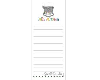Set of 3 Personalized Old Typewriter Notepads - by Swell Printing