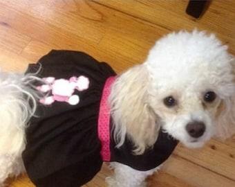 Poodle Skirt Dog Costume, Small Dog Costume, 1950's Dog Costume, Greased Lightning Dog Costume, Custom Dog Costume, Dog Halloween Costume