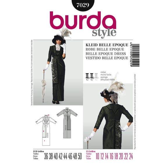 Historische Belle Epoque Kleid nähen Muster Burda 7029