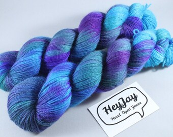 Hand Dyed Ultimate Sock Yarn, BFL High Twist - Mermaid