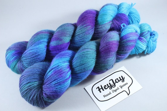 Hand Dyed Ultimate Sock Yarn, BFL High Twist - Mermaid