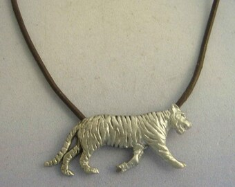 tiger pendant amulet 925 sterling silver necklace charm