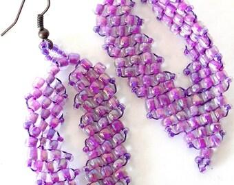 Mauve Leaves earrings