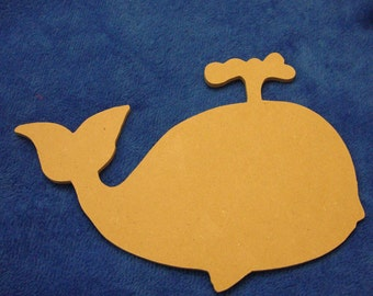 Whale Unfinished Mdf Wood Mosaic Base or Craft Shape Choose Your Thickness