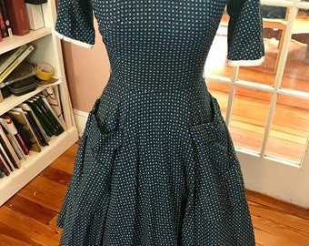 L'Aiglon 1950s Fit & Flare Day Dress