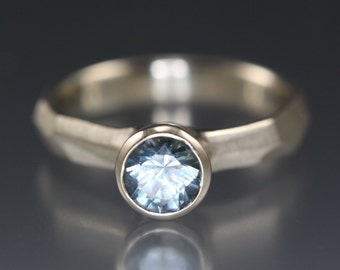 Montana Blue Sapphire Engagement Ring