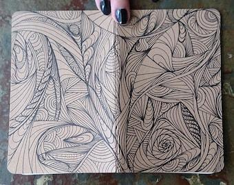Small Moleskine Journal: Zentangle #1