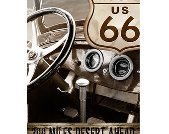Route 66, Colorful Wall Art, Digital Art, Printable Poster, Digital Download, Printable Photography, Printable Art,  Photographic Collage