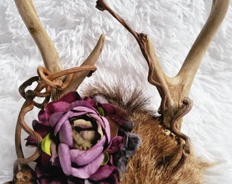 Small woodland theme antlers with a purple color scheme.