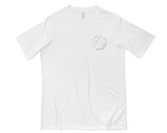 White Moon Short Sleeve T-shirt