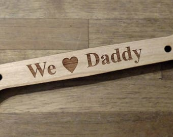 PERSONALIZED WOODEN WRENCH Shaped Gift // Engraved Package Topper / Party Favors,Car Mechanics ,Automotive Garage Techs