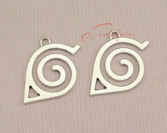 15PCS--38x29mm ,Naruto Charms Antique Tibetan Silver Tone Naruto Simply charm pendants, DIY supplies,Jewelry Making