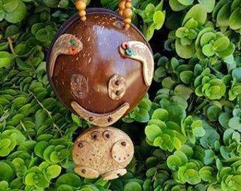 Vintage Coconut Purse, Coconut Handbag, Tropical Handbag, Tiki Purse, Hawaiian Purse, Coconut Pouch, Pinup, Vinatge Bag, Wristlet