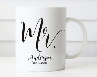 Mr Mugs, Wedding Gift, Personalized Wedding Mugs, Engagement Gift, Coffee Mugs, Bridal Shower Gift, Anniversary Gift