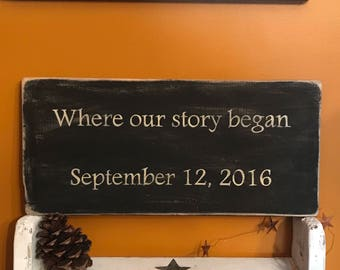 Where Our Story Began Wedding Gift Wedding Date Anniversary Gift Idea For Wife From Husband Wedding Gift For The Bride Bridal Shower Gift