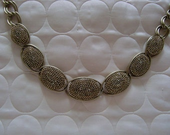 Vintage Silver Tone Unique Necklace